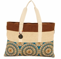 Catori Shoulder Tote Gota Blue 21in x 15in