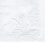 Cotton Hankies Lily Of The Valley White