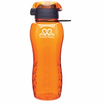 Crochet Happy H2Go Bottle Orange 24oz
