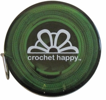 Crochet Happy Tape Measure Green