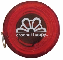 Crochet Happy Tape Measure Red