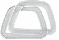 D Shaped Handles Plastic Crystal with Glitter
