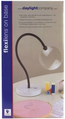 Daylight Lamp Flexilens On Base Black Arm White Base - Click to enlarge