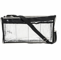 Deluxe Handy Caddy 14inX7inX5in Clear with Black Trim