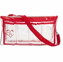 Deluxe Handy Caddy 14inX7inX5in Clear with Red Trim