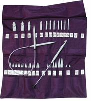 Denise Knit & Crochet Needles In A Della Q Case Purple