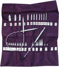 Denise Knit & Crochet Needles In A Della Q Case Purple - Click to enlarge