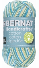 Bernat Handicrafter Cotton Stripes Yarn - Click to enlarge