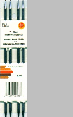 Knitting Warehouse Free Shipping : Double Point Aluminum Knitting Needles 7in Size 6 4mm