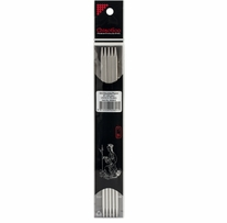 Double Point Stainless Steel Knitting Needles 8in Size 5 (3.75mm)