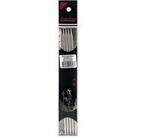 Double Point Stainless Steel Knitting Needles 8in Size 7 (4.5mm)