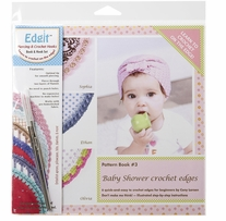 Edgit Piercing Crochet Hook & Book Set Baby Shower Crochet Edges