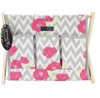Everything Mary Chevron Roses Fold-Up Caddy