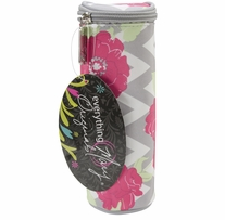 Everything Mary Chevron Roses Hook Case