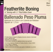 Featherlite Boning Black 12 Yards