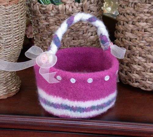 Felted Easter Basket