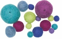 Feltworks Cool Ball Assortment 16/Pkg