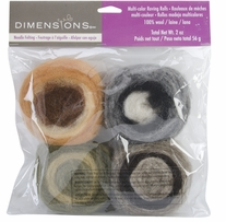 Feltworks Earth Tone Roving Rolls 4/Pkg