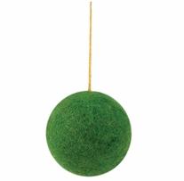 Feltworks Embellishments Big Green Ball Ornament