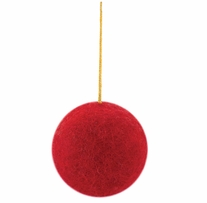 Feltworks Embellishments Big Red Ball Ornament