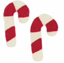 Feltworks Embellishments Candy Canes Ornament/Gift Tag