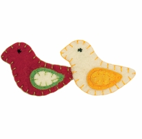 Feltworks Embellishments Holiday Birds