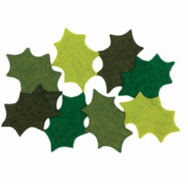 Feltworks Embellishments Holly Leaves