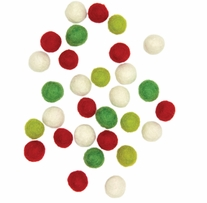 Feltworks Embellishments Small Holiday Balls 30/Pkg