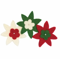 Feltworks Embellishments Star Flowers