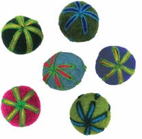 Feltworks Embroidered Balls .75in