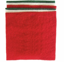 Feltworks Felt Square Bundle Red, Green & White
