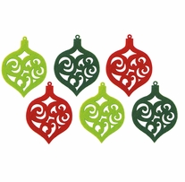 Feltworks Laser Cut Ornaments Green, Lime & Red