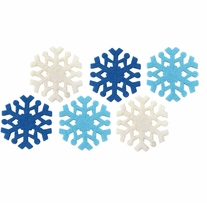 Feltworks Laser Cut Snowflakes Blue, Light Blue & White