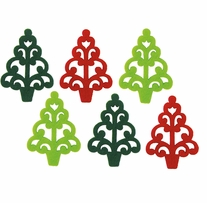Feltworks Laser Cut Trees Green, Lime & Red