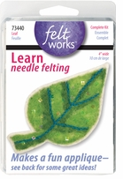 Feltworks Leaf Learn Needle Felting Kit 4in Wide