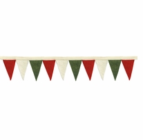 Feltworks Mini Pennant Banner Red, Green & White