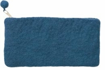 Feltworks Mini Purse Dark Blue 8 1/4inX4 1/4inX1/2in