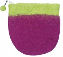 Feltworks Mini Purse Two Tone 5 1/2inX5 1/4inX5in Lime/Violet