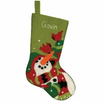 Feltworks Needlecrafts Snowman & Company Stocking