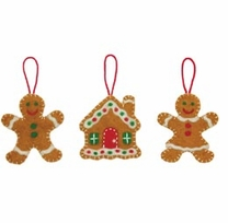 Feltworks Needlecrafts Sweet Gingerbreads Ornaments