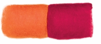 Feltworks Roving Orange & Tomato