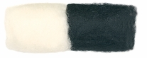 Feltworks Wool Roving White & Black