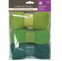 Feltworks Roving Trio Pack Blue Green