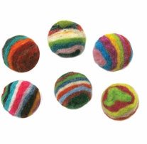 Feltworks Striped Balls .75in