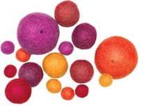 Feltworks Warm Ball Assortment 16/Pkg