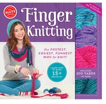Finger Knitting Book Kit
