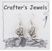 French Wire Earrings With Clear Keepers Spinning Wheel