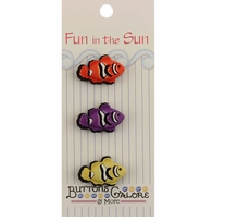 Fun In The Sun Buttons Clown Fish