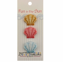 Fun In The Sun Buttons Fan Shells