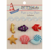 Fun In The Sun Buttons Ocean Wonders